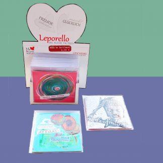 VE Display Leporello - Das kleine Faltbuch Geschenkset Glückwünsche, Glückwunschkarten, Lebe-glücklich-Collage, Collage, Geschenk