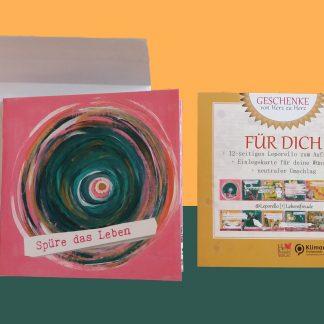 Leporello Lebensfreude Das kleine Faltbuch Glückwunschkarte, Leporello Wellfeeling Glückwunschkarte zum Verschenken Faltkarte, Glückwunschkarten, Lebe-glücklich-Collage, Collage, Geschenk