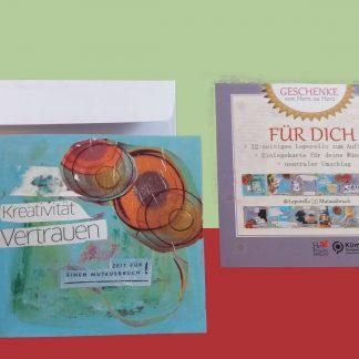 Leporello [3] Mutausbruch Faltkarte für deine Wünsche