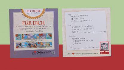 Leporello [3] Mutausbruch Faltkarte für deine Wünsche, Glückwunschkarten, Lebe-glücklich-Collage, Collage, Geschenk