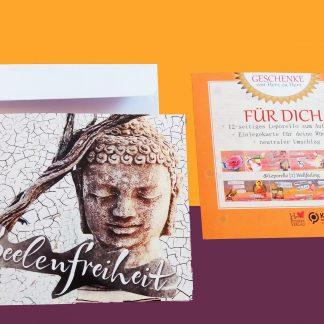 Leporello Wellfeeling Glückwunschkarte zum Verschenken Faltkarte, Glückwunschkarten, Lebe-glücklich-Collage, Collage, Geschenk